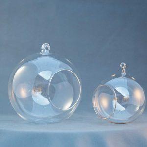 terariu din sticla, lucrat manual, mare si mic, greenarium