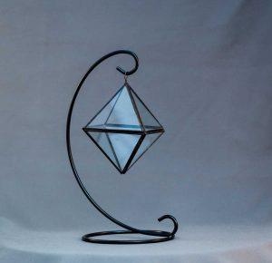 terariu mic in forma de octaedru, lucrat manual, greenarium