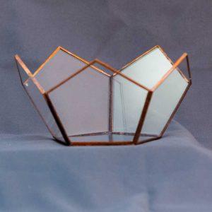 terariu geometric din sticla, semi-dodecaedru, greenarium