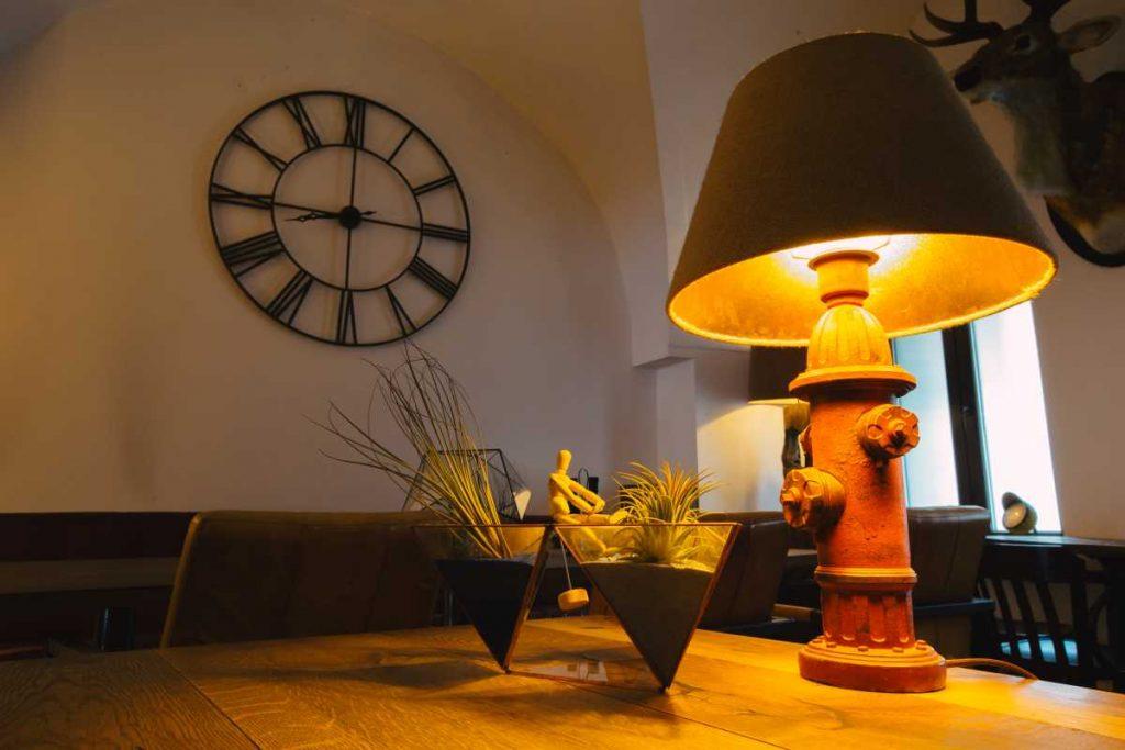 Terariu cu plante aeriene, decor interior, cafenea, vintage, tillandsia