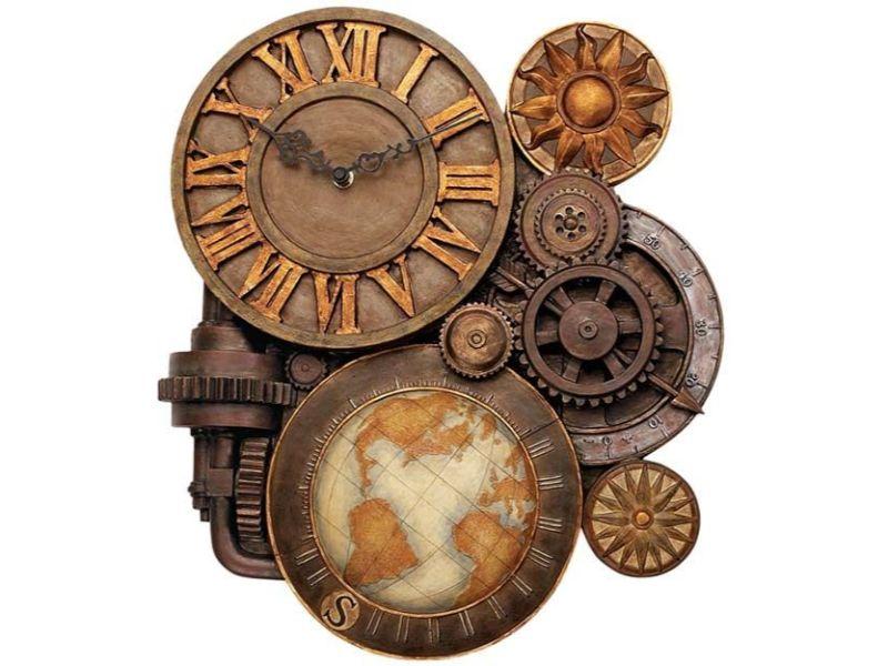 mecanism cu ceas, busola, elementul soarelui, culoarea cuprului